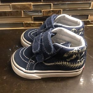 Vans infant dinosaur Velcro high tops hi sneakers